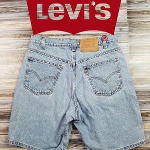 Levi's Vintage Orange Tab 550 Denim Shorts 31 Blue